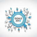 Goals 2013 Business Target Concept Royalty Free Stock Photo - 28535145
