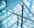 Modern Steel Railings And Stairs Made Of Glass Royalty Free Stock Photos - 28538148