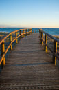 Footbridge Towards The Mediterranean Royalty Free Stock Photography - 28549077
