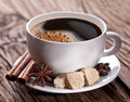 Cup Of Coffee With Brown Sugar. Royalty Free Stock Photos - 28555718