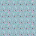 Seahorses And Weeds Vector Seamless Sea Pattern Stock Photos - 28560343