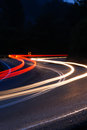Light Trail At The Curve Royalty Free Stock Image - 28563176