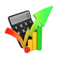 Business Concept With Calculator And Diagram. Royalty Free Stock Photos - 28564778