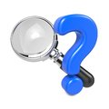 Magnifying Glass With Question Mark. Royalty Free Stock Photos - 28564798
