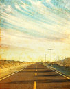 Grungy Desert Road Royalty Free Stock Photography - 28575927