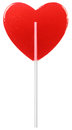 Red Heart Shaped Lollipop Royalty Free Stock Image - 28577776