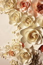 Roses Made of Paper Stock Photos - 28580473