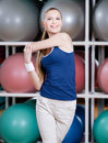 Sportive Woman Stretching Herself Royalty Free Stock Photos - 28592848