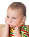 Cute Baby Thinking Stock Image - 28594901