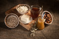 Healthy Meal . Bread,tea And Cereals Royalty Free Stock Image - 28595356