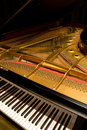 Grand Piano With Cover Open Royalty Free Stock Photo - 28597855