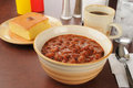 Chili And Cornbread Stock Photos - 28607973