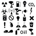 Set Of Icons: Pollution, Industrial, Hazardous Royalty Free Stock Image - 28621016