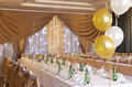 Wedding Reception Hall With Laid Tables Stock Image - 28635271