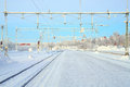 Winter Railroad Platform Royalty Free Stock Photography - 28636307