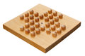 Wooden Peg Solitaire Board Or Brainvita Royalty Free Stock Image - 28636356