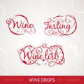 Red Wine Text Stock Photo - 28636450
