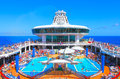 Cruise Ship Pool Deck Stock Photo - 28636740