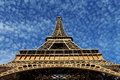 Eiffel Tower In Paris On The Winter With The White Clouds Stock Photo - 28641710