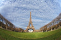 Eiffel Tower In Paris On The Winter With The White Clouds Royalty Free Stock Images - 28642419