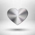 Valentiness Day Heart With Metal Texture Stock Photos - 28643553