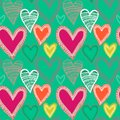Colorful Seamless Heart Pattern Royalty Free Stock Photos - 28651728