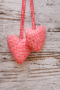 Fabric Heart For Valentines Day Stock Photo - 28654930