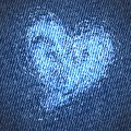 Valentine Jeans Heart Background Royalty Free Stock Images - 28656599