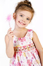 Portrait Of Cute Little Girl In Princess Dress Stock Photos - 28658433
