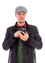 Young Man Using A Mobile Smart Phone Stock Images - 28666384