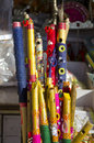 Colorful Bamboo Flutes In Jaipur Bazaar, India Stock Photography - 28671452