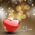 Valentines Day Greeting Card, Gift Card Or Background With Gloss Stock Image - 28673031
