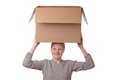 Girl With Box Stock Photo - 28673700