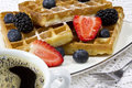 Freshly Baked Waffles Royalty Free Stock Photos - 28674468