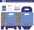 Gift Box With Blue Azulejos Ceramic Models Royalty Free Stock Images - 28674469