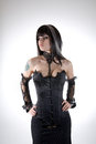 Gothic Girl In Black Corset Stock Photography - 28675682