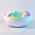 Easter Eggs On A Bowl Stock Photography - 28676462