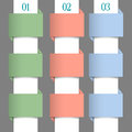 Paper Numbered Banners In Pastel Colors Stock Image - 28677251