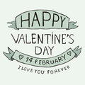 Valentines Day Type Text Royalty Free Stock Photos - 28677888