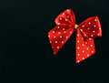 Red Spotted Gift Bow Royalty Free Stock Photos - 28682718