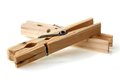 New Wooden Old Clothes Pin Stock Image - 28686181