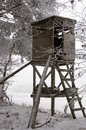 Hunting Tower At Winter Stock Images - 28690844