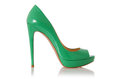 Woman Green Shoes Isolated Royalty Free Stock Image - 28695396