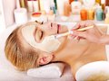 Clay Facial Mask In Beauty Spa. Royalty Free Stock Photography - 28696407