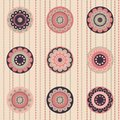 Fashion Pattern With Flowers In Retro Color Royalty Free Stock Image - 28700216