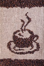Coffee Beans On Burlap Surface Stock Images - 28700794