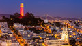 Coit Tower And St. Peter And Paul Church Stock Image - 28701231