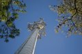 Cell Phone Tower Reaching To The Sky Stock Photo - 28705880