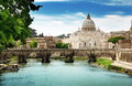 View On Tiber And St Peter Basilica Stock Image - 28710891