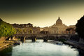 View On Tiber And St Peter Basilica Royalty Free Stock Photo - 28710895